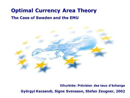 Optimal Currency Area Theory