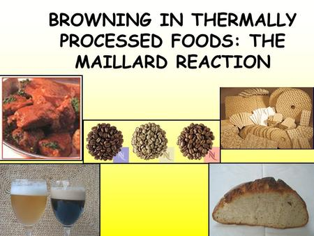 BROWNING IN THERMALLY PROCESSED FOODS: THE MAILLARD REACTION.