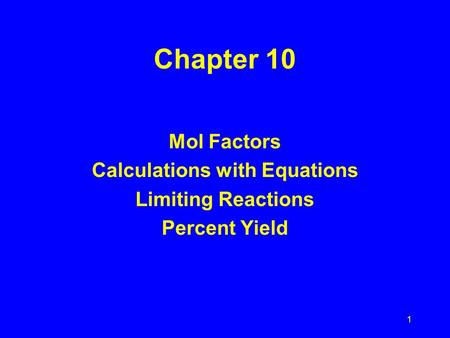 Calculations with Equations
