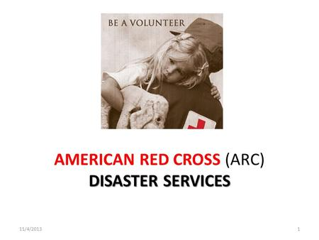 AMERICAN RED CROSS (ARC) DISASTER SERVICES