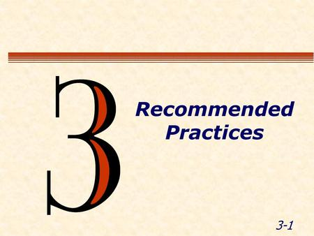 3-1 Recommended Practices. 3-2 Module Objectives Summarize safe operating practices for LEOs working in WZ.
