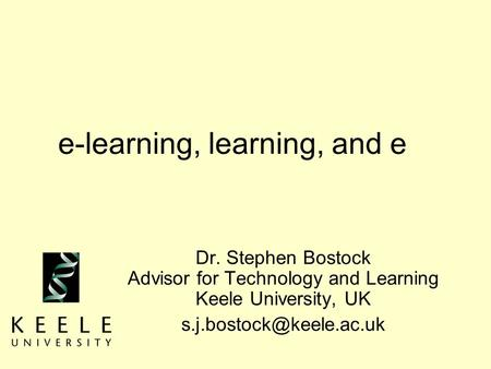 e-learning, learning, and e