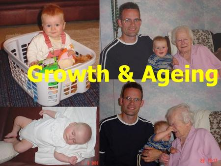 Growth & Ageing. Growth Growth occurs during gestation, childhood and adolescence. Growth rate = change in size per unit time. Growth curve = when growth.