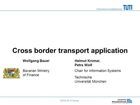 Cross border transport application