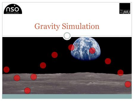 Gravity Simulation. Gravity Gravity is the weakest of the four fundamental forces. Gravity is responsible for the attraction of massive bodies. Gravitational.