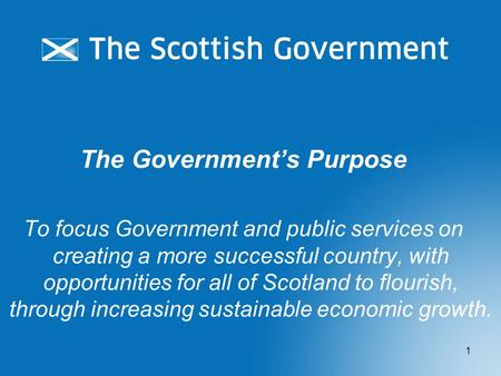 The Government's Purpose