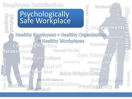 Psychologically Safe Workplace Psychologically Safe Workplace.