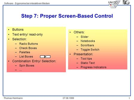 Step 7: Proper Screen-Based Control