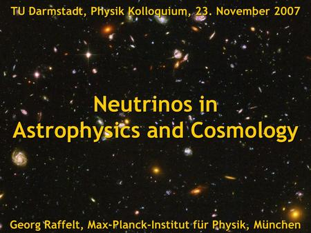 Neutrinos in Astrophysics and Cosmology