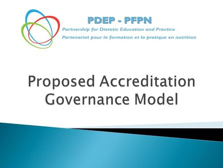 Mandate: To make a recommendation to the PDEP Steering Committee on an Accreditation Model for dietetic education and practice Model Structure: Shall.