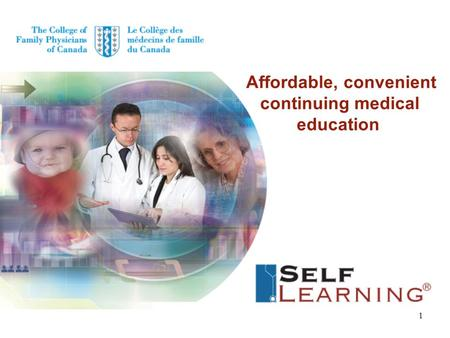 Affordable, convenient continuing medical education 1.
