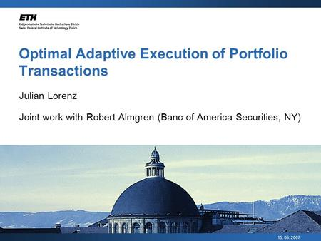 Optimal Adaptive Execution of Portfolio Transactions