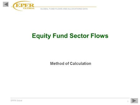 Equity Fund Sector Flows