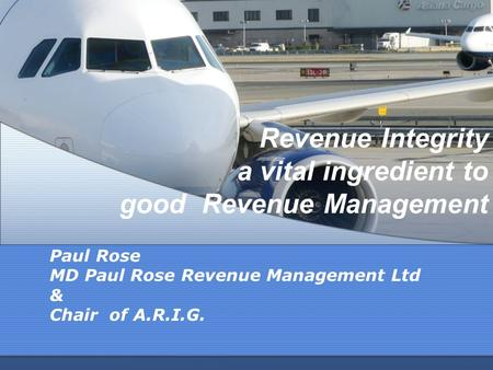Revenue Integrity a vital ingredient to good Revenue Management