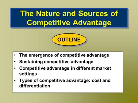 the sources of international competitive advantage Cultural diversity is a source of international competitive advantage critically evaluate today's businesses are more and more expanding into other countries and thus becoming global.