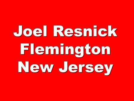 Joel Resnick Flemington New Jersey. The Red Carpet Store.
