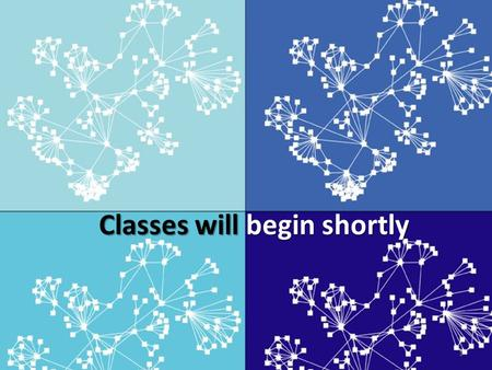 Classes will begin shortly 1. Networks, Complexity and Economic Development Class 1: Random Graphs and Small World Networks Cesar A. Hidalgo PhD.