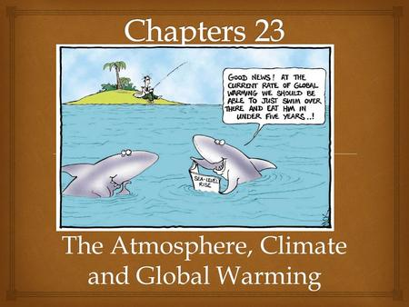 The Atmosphere, Climate and Global Warming. Climate Change Central Questions & Key Concepts What is the atmosphere What is the difference between weather.