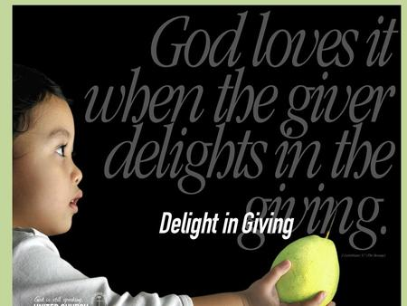 Delight in Giving 2012 Best Practices in Basic Stewardship.