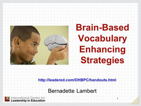 Brain-Based Vocabulary Enhancing Strategies