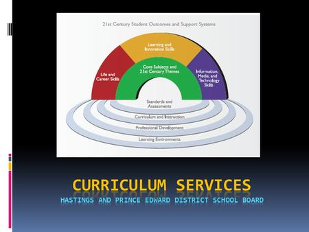 Curriculum services HASTINGS AND Prince Edward District School Board