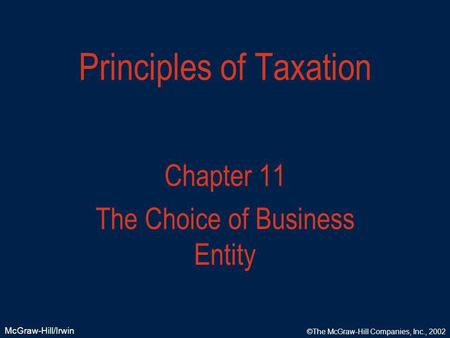 principles of taxation law A basic principle underlying the income tax laws of the united states is that people should be taxed according along with federal law enforcement and federal.