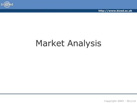 Market Analysis.