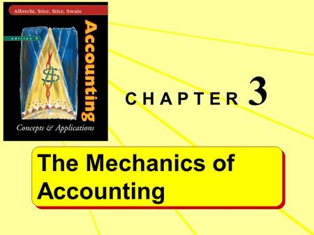 The Mechanics of Accounting The Mechanics of Accounting C H A P T E R 3.