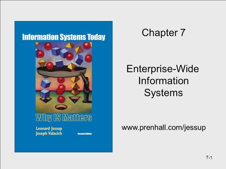 7-1 Chapter 7 Enterprise-Wide Information Systems www.prenhall.com/jessup.