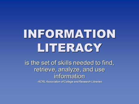 -ACRL Association of College and Research Libraries