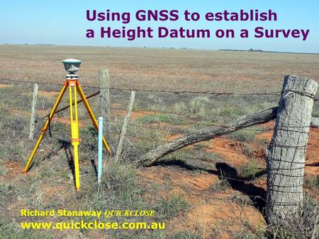 Using GNSS to establish a Height Datum on a Survey