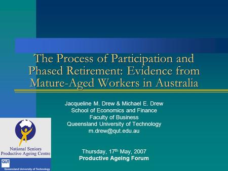 Productive Ageing Forum