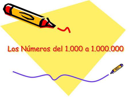 Los Números del 1.000 a 1.000.000. What will we do today? 1.Review numbers up to 1.000 2.Learn numbers from 1.000, 2.000, 3.000, to 9.000.