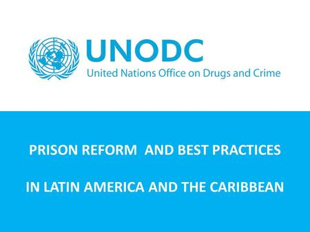 PRISON REFORM AND BEST PRACTICES IN LATIN AMERICA AND THE CARIBBEAN.