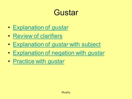 Gustar Explanation of gustar Review of clarifiers