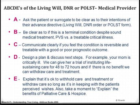 end of life decision making guidelines