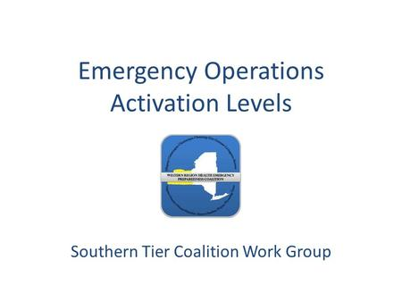 Emergency Operations Activation Levels