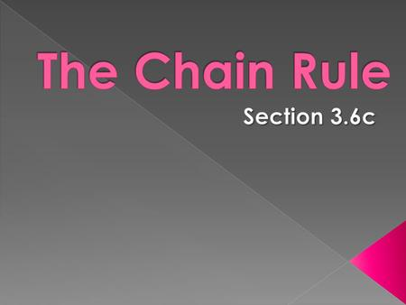 The Chain Rule Section 3.6c.