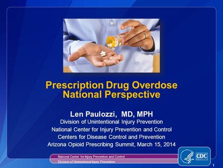 Prescription Drug Overdose National Perspective