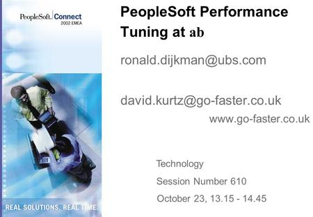 PeopleSoft Performance Tuning at ab
