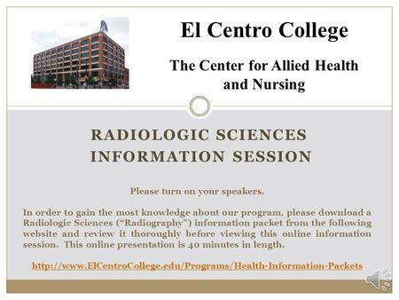 RADIOLOGIC SCIENCES INFORMATION session