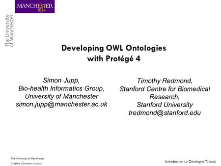 Developing OWL Ontologies with Protégé 4