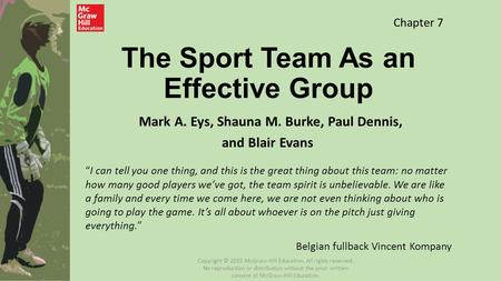 The Sport Team As an Effective Group