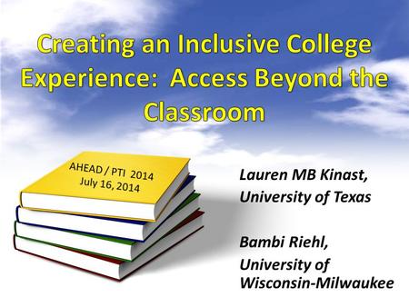 Lauren MB Kinast, University of Texas Bambi Riehl, University of Wisconsin-Milwaukee.