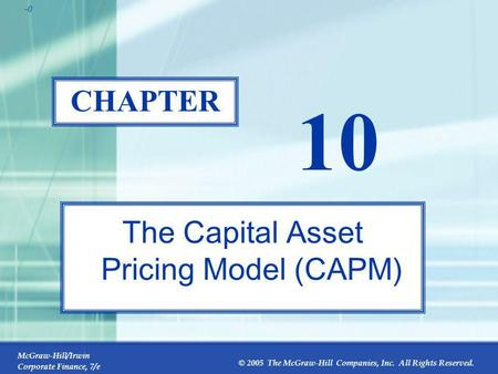 capital asset pricing management of risk dissertation A deluge of tests have been conducted on asset pricing models in literature, more so on the capital asset pricing model (capm), to ascertain their validity, efficiency and efficacy in different markets in explaining asset prices such tests have been either individual in nature wherein any one model has been studied or.