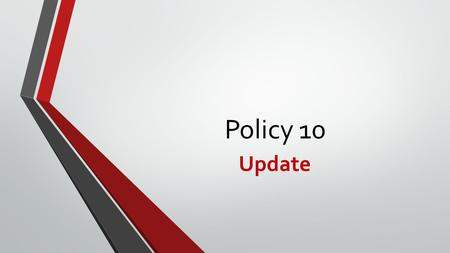 Policy 10 Update. Policy Requirements The DOAS policy requires all vehicles that fall into a high risk criteria to be enrolled in an ARI (Automotive Resources.