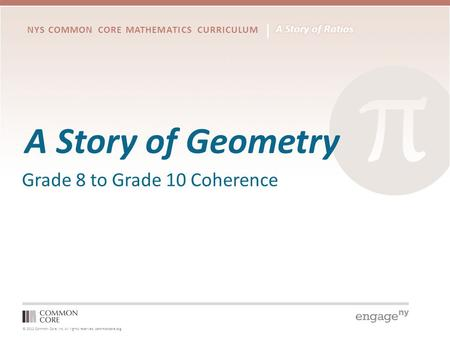 A Story of Geometry Grade 8 to Grade 10 Coherence