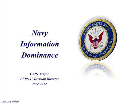 Information Dominance PERS 47 Division Director