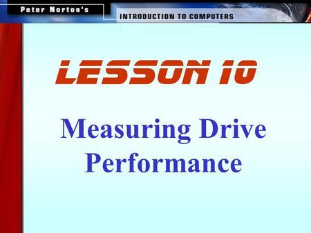 Hard disk drive performance characteristics