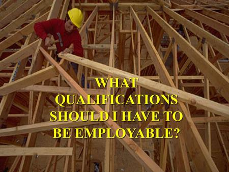 WHAT QUALIFICATIONS SHOULD I HAVE TO BE EMPLOYABLE?